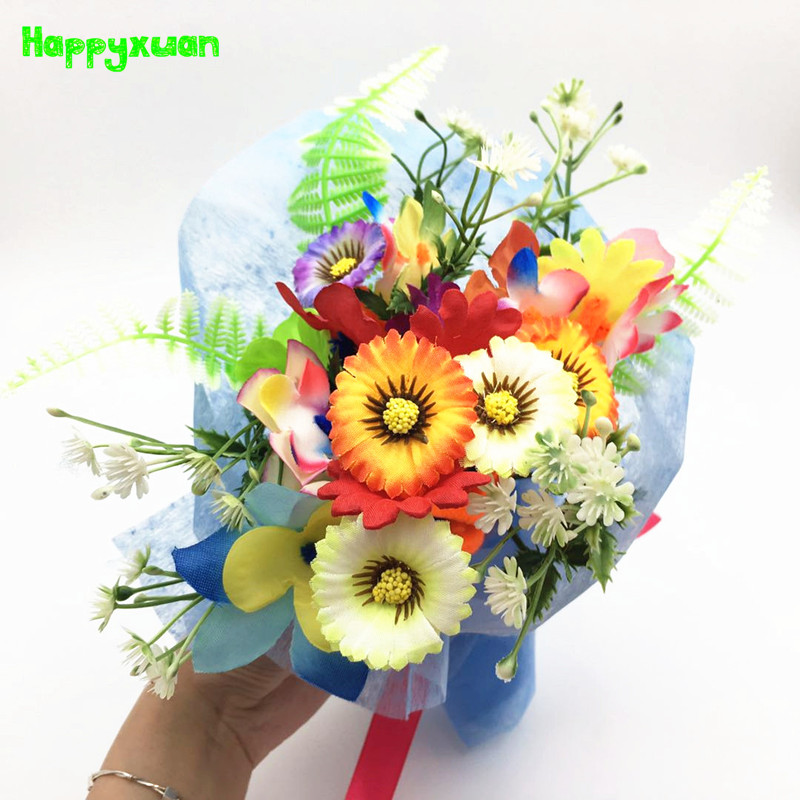 Happyxuan 5pcs Creative Handwork Bouquet Flowers Kids DIY Toys Sets Fathers Day Crafts Primary School Education Teachers Present