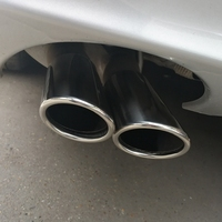 MONTFORD For Benz W204 C63 C180 C200 C220 C230 C250 C280 C300 C350 W204 Tail Exhaust Muffler Tip End Pipes Silencer Tail Pipe