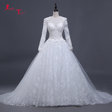 Jark Tozr Full Sleeve Bridal Gowns Wedding Dresses 2019