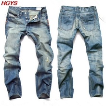 2017 mens jeans must be straight hole cat big yards of cultivate one's morality pants