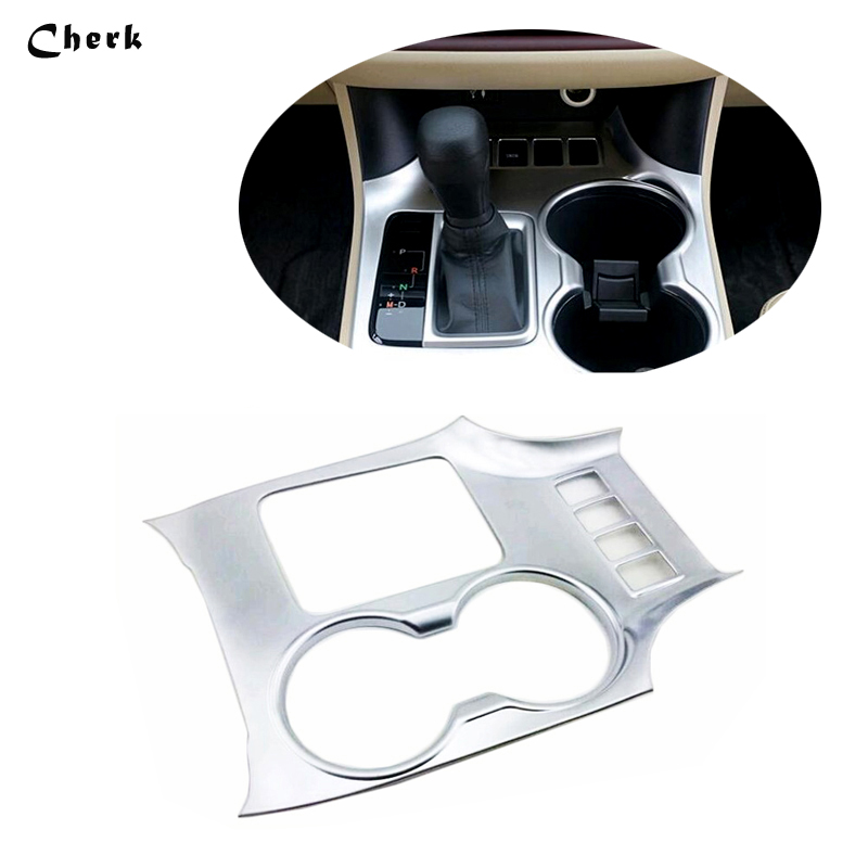 For Toyota Highlander 2015 2016 High quality Interior Water Cup Decoration Trim Cover Water Cup Sticker 1pcs