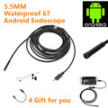 5.5mm Lens 3.5M Android OTG Phone Endoscope IP67 Waterproof Inspection Borescope Tube LED Camera Snake video