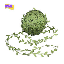 20 yards simulation leaves garland decoration accessories cloth green leaf cane artificial flowers