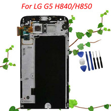 Free Shipping Black For LG G5 H850 LCD Display with Touch Screen Digitizer Assembly With Frame +Tools