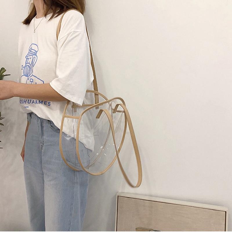 ca9702b88c2a Aliexpress.com   Buy Hylhexyr Summer Shoulder Bag Round Circular  Transparent Bags Fashion Female Clear Totes PVC Handbag Perfect For Work  School from ...