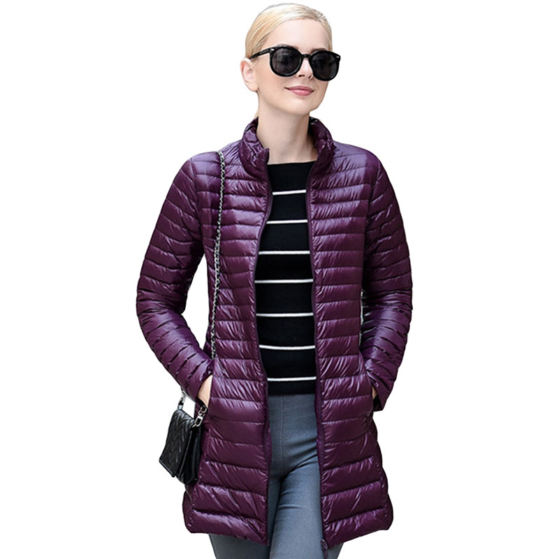 2017 Spring 90% Duck Down Weightless Coats Slim Plus Size 4XL Overcoat Women Light Jacket Winter Down Coat Casual Parkas YP0609