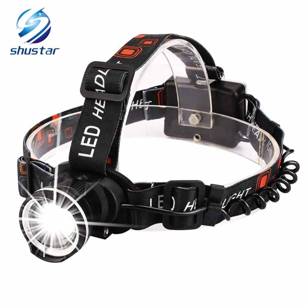 Super Bright LED Headlamp T6 LED Headlight Zoomable Headlamp 3 Modes Rotate Zoomable Headlamps Use 3 AA Batteries