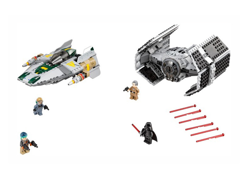 new LEPIN 05030 Star Series War 722Pcs Vader the legoingly Tie Advanced VS A toys wing Star fighter Building Blocks Toy 75150 dhl lepin 05055 star series military war the rogue one usc vader tie advanced fighter compatible 10175 building bricks block toy