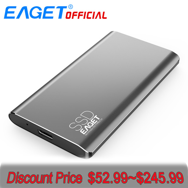 EAGET M1 TYPE C 128GB-1T Type C USB 3.1 External Hard Disk Portable SSD Mobile SSD 500MB/S Read Mobile Solid State Drive eaget cu10 portable type c 3 1 usb3 0 dual interfaces u disk 32gb