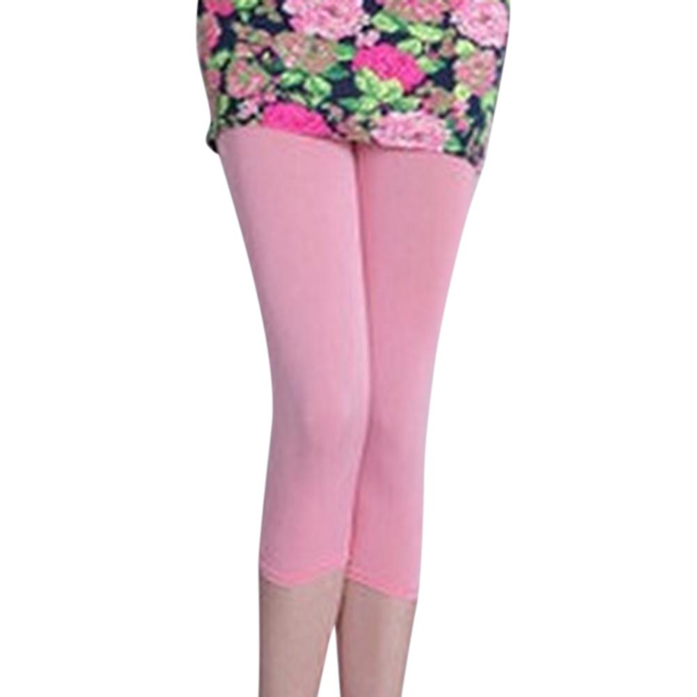 MISSKY Women Concise Candy Color Casual Thin High Stretch Pants Cropped Trousers   Leggings
