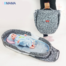 High quality baby bed Panda pattern folding bed thickening change diaper bed portable folding bed for Give pillow and mats