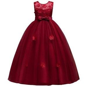 Image 3 - Mới Công Chúa Bé Gái Váy Đầm Ren Hoa Bé Gái Váy Đầm Voan Bé Gái Cuộc Thi Áo Đầu Tiên Hiệp Thông Đầm Đảng Đồ Bầu