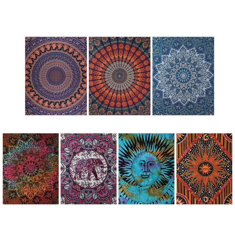 Geometric Printing Hanging Wall Tapestry Hippie Retro Home Decor Yoga Beach Mat 150x130cm/200x150cm Home Bedroom Decoration