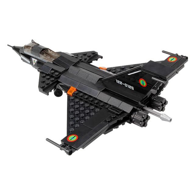 Bricks Toy Airplanes Models Building Block Black Fighter Kid Baby Educational Toys Dassault Rafale