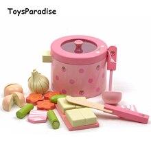 Детские игрушки, супер милые, имитация овощей, горячий горшок, деревянные игрушки, игра, еда, Набор для игры, подарок на день рождения