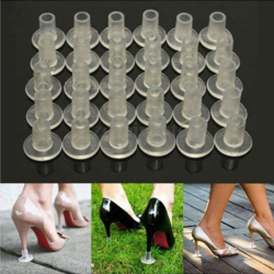 1Pair High Heel Protectors Cover Latin Dancing Heel Covers Stoppers Antislip Silicone High Heeler For Wedding Favor Soft
