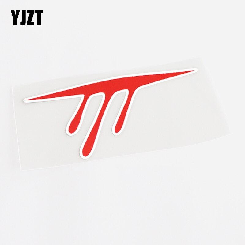 YJZT 14,5 см * 6,3 см Уникальные Красные автомобильные наклейки из ПВХ в виде крови, Переводные Аксессуары 13-0636