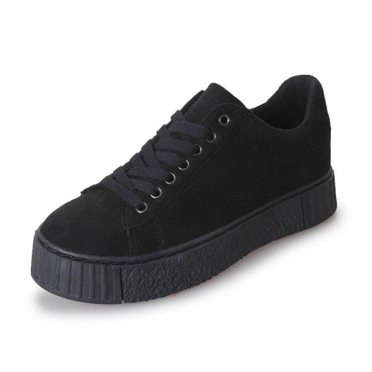 À Nouveau Femmes De Semelles Plates Beige noir Casual Mode Chaussures Printemps Épaisses 2018 naq6vEwxT