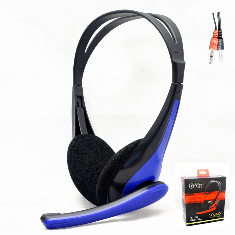 Simple Light Wired Headsets Stereo Headphones with Micphone 3.5mm Plug For Mobile Phones Computers (3)