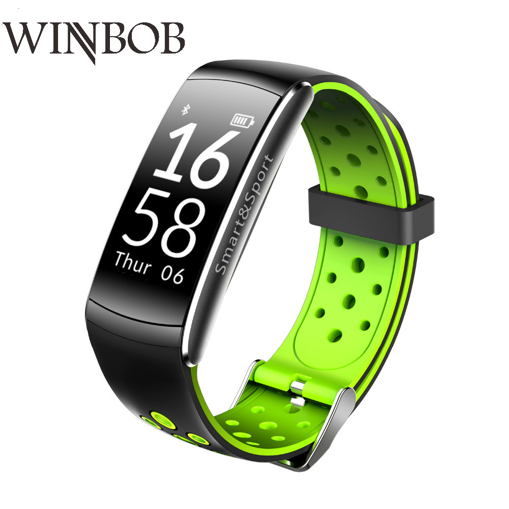 WINBOB Q8 сердечного ритма Смарт Группа 2 спортивные смарт-браслет Водонепроницаемый Фитнес трекер Браслет Smartband с вызова sms-оповещение