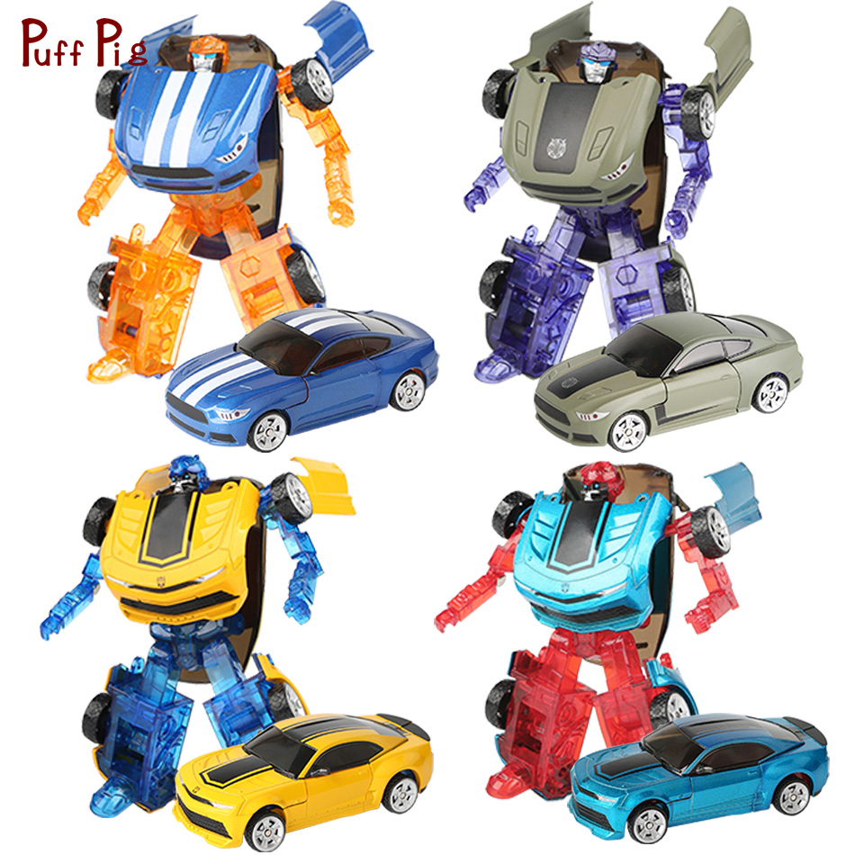 New Transformation Car Robot Action Figures Toys Metal Cars Model Deformation Robots Education Toys For Children Christmas Gifts стоимость