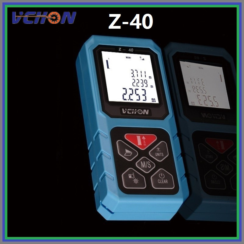 Medidor de distancia láser 40/60/80/100 m telémetro láser medición de distancia láser área/volumen/Pitágoras