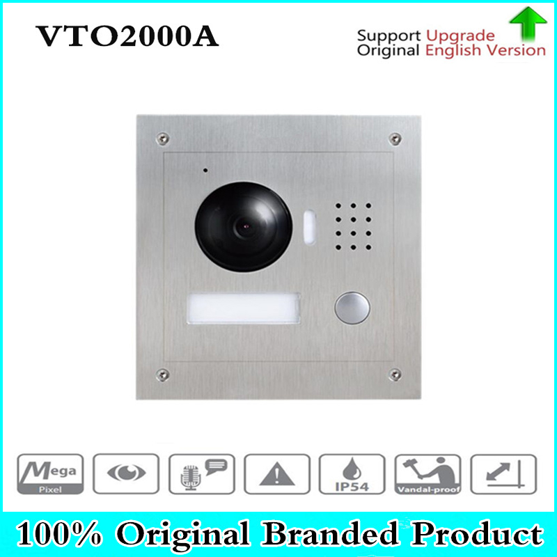 DH VTO2000A 1.3MP Video Door Phone POE P2P Metal Villa Outdoor Station Remote Intercom Night Vision without dahua logo VTO2000A dh vto2000a 1 3mp video door phone poe p2p metal villa outdoor station remote intercom night vision with logo dh vto2000a