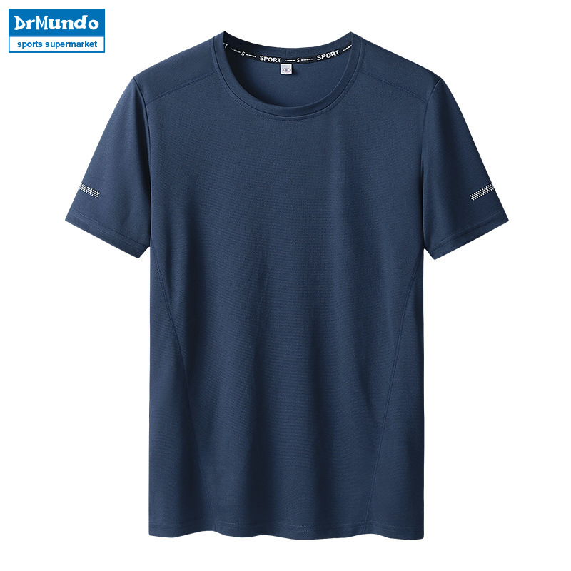 Summer Man's Quick Dry T Shirts Camping Hiking Tees Climbing Fitness Sport Tshirts White Running Cycling Tops Big Size