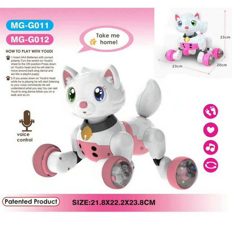 Fun Childrens education, electric robotic dogs, sound control, cute electronic pets, toys, children, favorite holiday gifts
