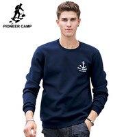 Pioneer Camp New 2016 Autumn Winter Fashion Mens Hoodies Casual 100 Cotton Thicken Fleece Crewneck Hoodie
