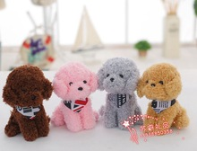 10 pieces a lot cute plush poodle toys stuffed scarf dog dolls gift about 20cm 306