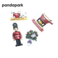 PANDAPARK 3D Смола Швейцарский магнит на холодильник сувенир ручной цветной город ориентир наклейка со зданием кухня украшение размещение сообщения
