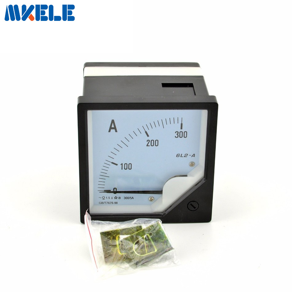 Аналоговая панель переменного тока 6L2 (300), амперметр, сила тока в амперах, измеритель указки, диагностический амперметр, не нужен шунтирующий бренд