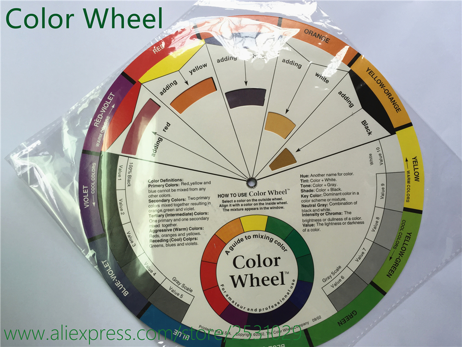 1x Tattoo Pigment Color Wheel Chart Supplies Art Paper Mix Studio Helpful Round Inks Wheels In Accesories From Beauty Health On