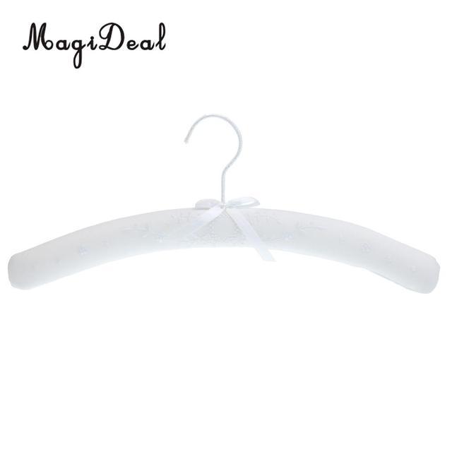 Cotton Linen Flower Padded Hanger Shirt Blouse Shoulder Shaper Hook Hanger