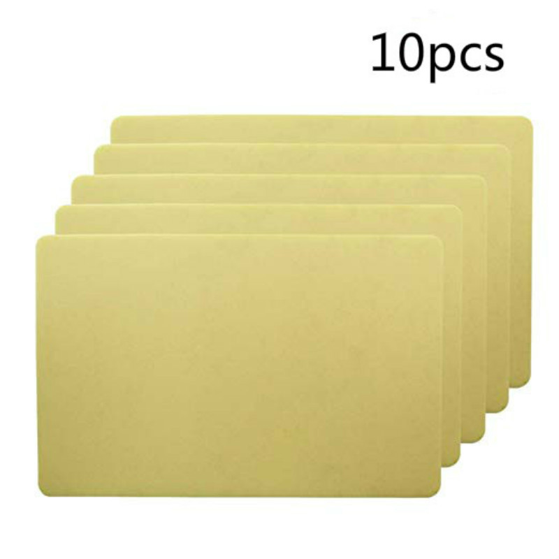 10PCS 15*20*0.12cm Tattoo Skin Practice Thick Blank Double Sides Tattoo Practice Skin Soft Silicone Pading