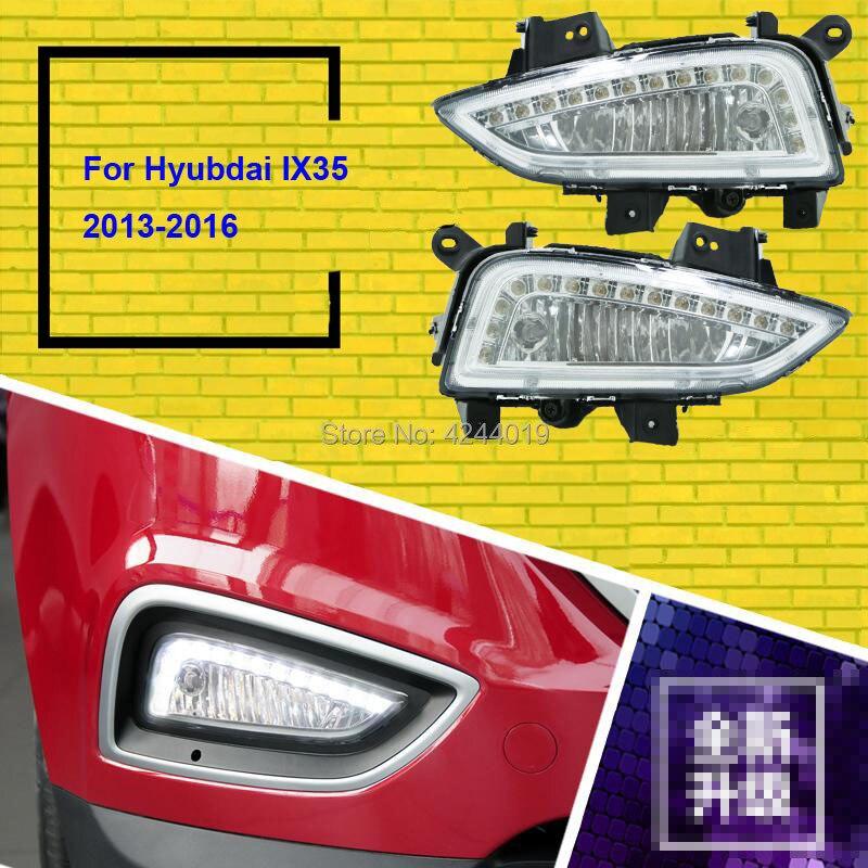 SmRKE Автомобильный свет Противотуманные фары Дневные ходовые огни Светодиодный световые панели для 2013 2016 hyundai ix35