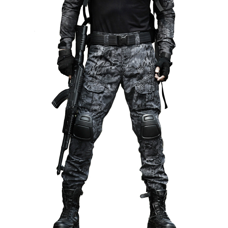 12 Camouflage Color Tactical Clothing Army Of Combat Uniform, Military Pants With Knee Pads, Airsoft Paintball Clothing