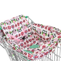 Children Care Chair Mat Kids Baby Shopping Cart Seat Safety Comfortable Animal Owl Portable Cover Cart