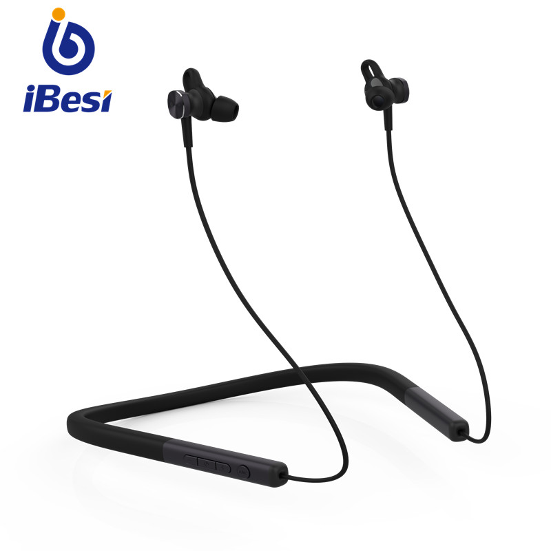 iBesi Wireless Headphones ANC Headset Stereo V4.2 Sport Neckband Magnetic with Mic Active Noise Cancelling for All Mobile Phones
