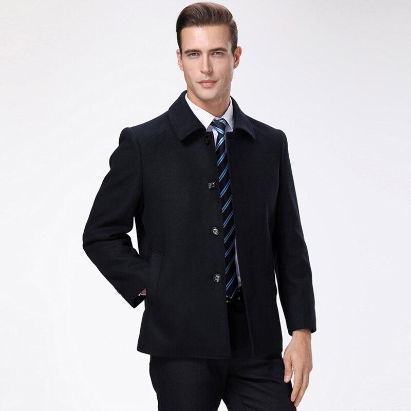Abrigo Chaqueta Mezclas Invierno gris Moda Marca Lana Nueva Negro Para  Equipado De Hombre Casual Lana ... 3cc386a6a15