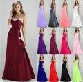 Personalizado e atacado baratos simples Querida beading Vestidos de Noite da sereia de tafetá Prom Vestidos longos 2017 Frete grátis Lace-Up