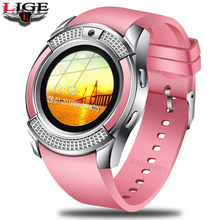 LIGE 2019 New Women Smart Watch LED Color Screen Fashion Sport Pedometer Android Phone Relogio inteligente