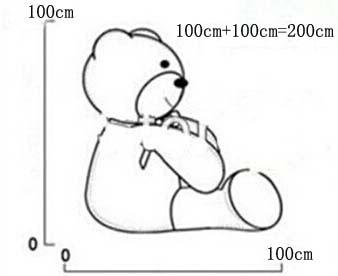 გიგანტური ტედი დათვი 200cm 2m - პლუშები სათამაშოები - ფოტო 6