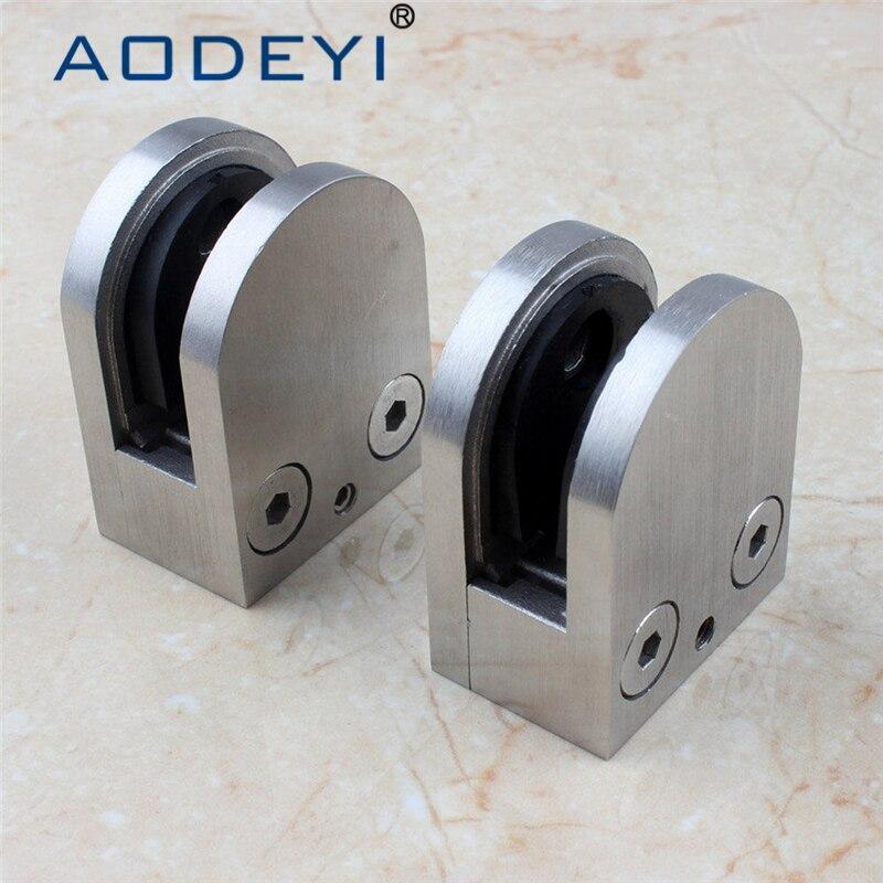 espitas de vidrio abrazadera de cristal clip de acero inoxidable sus posterior plana soporte para