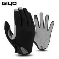 Giyo hiver écran tactile route vélo gants plein doigt cyclisme vélo gant hommes sport Lycra femme coupe-vent gant Gym pêche