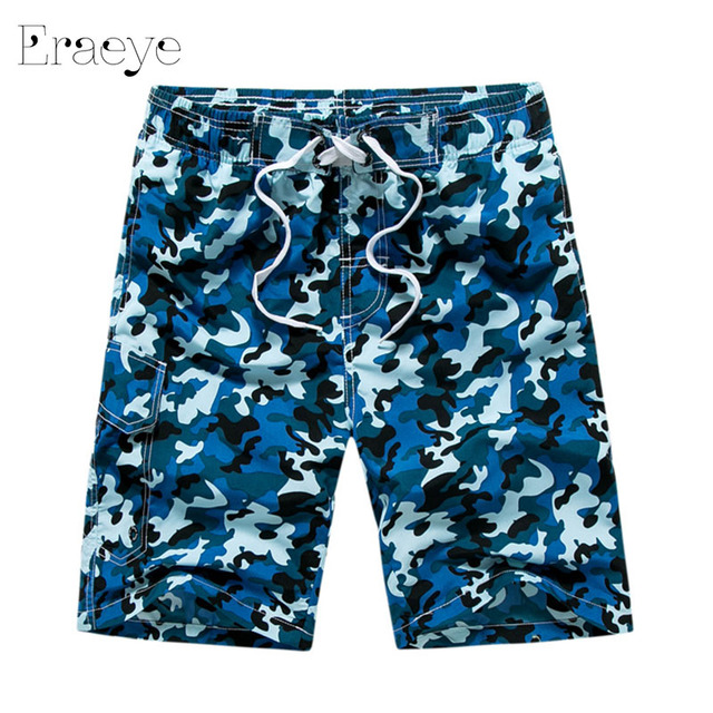 ERAEYE 2017 Summer High Quality Men Bermudas Board Shorts Male Camo Beach Swimwear Short Mens Boardshorts Casual Masculina Pants