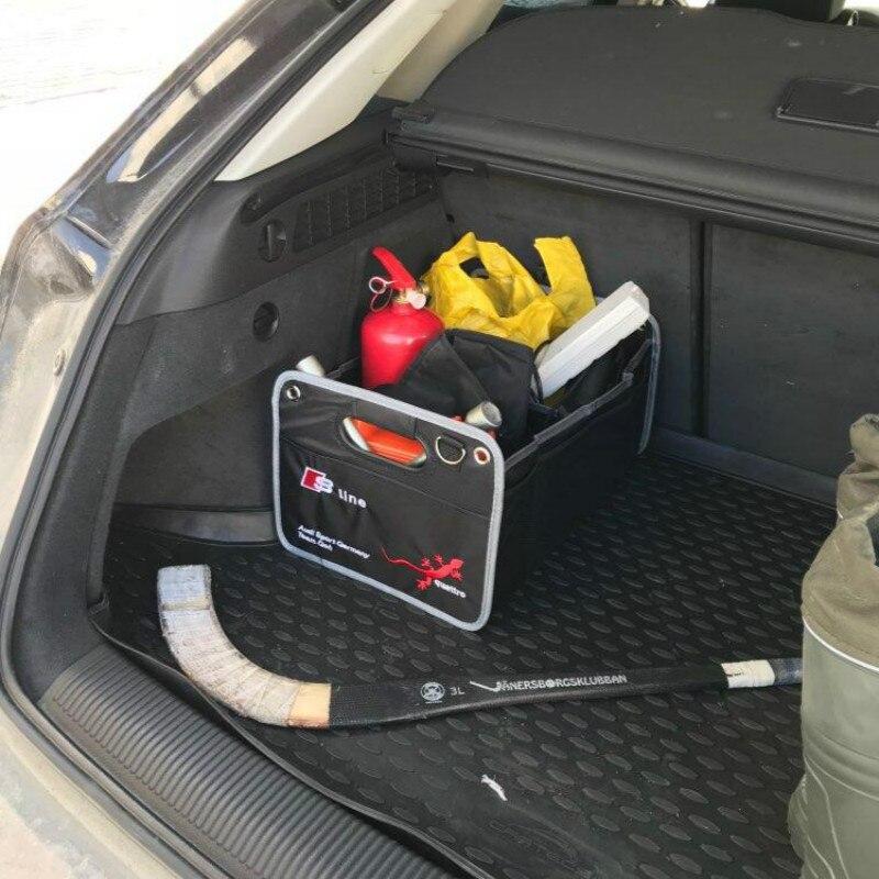 25KG Load Car Trunk bag Box For Audi Sline A1 A3 A4 A5 A6 A7 S3 S5 S6 C5 C6 TT Q5 Q7 Q3 8P 8L 8V R8 RS Quattro Car accessories 2pcs led logo door courtesy projector shadow light for audi a3 a4 b5 b6 b7 b8 a6 c5 c6 q5 a5 tt q7 a4l 80 a1 a7 r8 a6l q3 a8 a8l