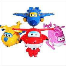 8 colors  Super Wings Deformation Airplane Robot Action Figures Super Wing Transformation toys for children gift Brinquedos