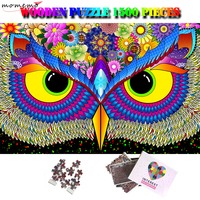 MOMEMO Owl 1500 Piece Jigsaw Puzzle Creative Giant Difficult Adults Brain challenging Wooden Puzzle Toys 1500 Puzzles Home Decor